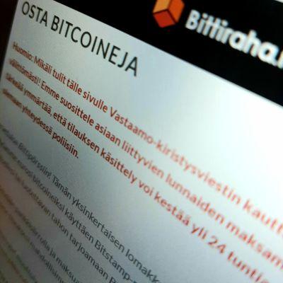 BIttiraha.fi -verkkosivu.