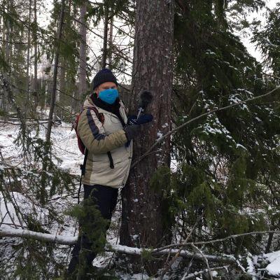 Olli Haapakangas metsässä