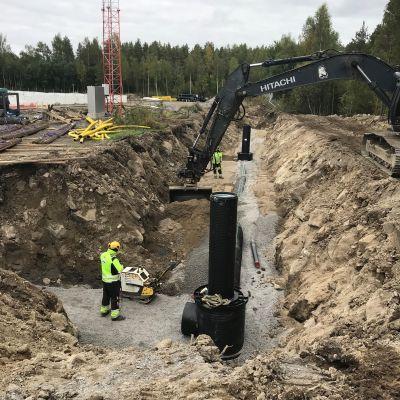 Vaasan Pilvilammen työmaalla uusitaan vesiputkia