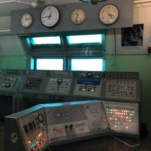 Kontrollrum där USAs första raketer sköts upp på 1950-talet.
