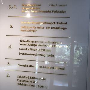 Finlandssvenska institutioner i fem våningar i Folktingets kanslihus i Helsingfors