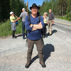 Peter Lüttge på pilgrimsleden