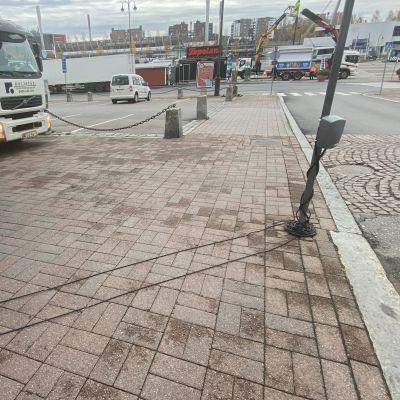 Liikennevalvontaa Tampereella.