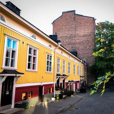 Juhannuskylän puutalo
