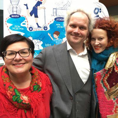 Saimaa-ilmiön sytyttäjät Sari Kaasinen, Jani Halme ja Saimi Hoyer.