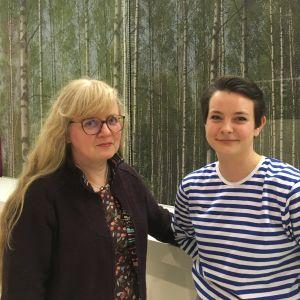 Bild på Lena Sjöberg, klinisk läkare i allmän medicin, och läkare Aina Enckell.