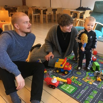 Staffan, Daniela och Alfred Strömsholm.