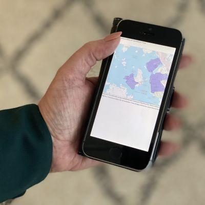 Pelastuslaitokset kartta niistä alueista, joilla ei Vaasassa saa ampua ilotulitteita huvilakauden päättäjäisissä.