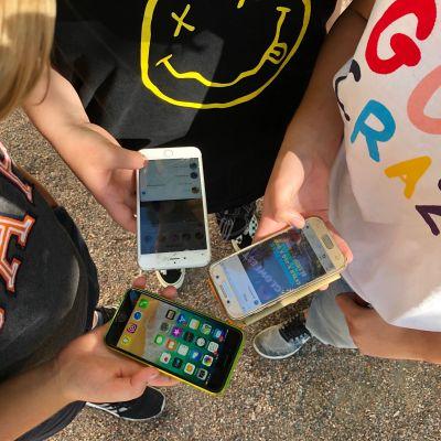 Tre mobiltelefoner