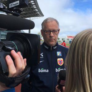 Lars Lagerbäck är tränare för Norges fotbollslandslag.