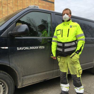 Savonlinnan Veden sähköautomaatioasentaja Juha Pasanen