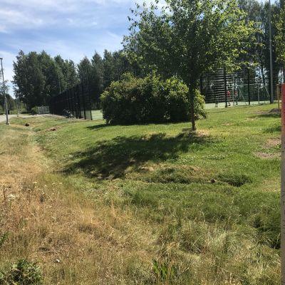 Kuva alueesta jolle Tampereen Sellupuiston painopenger kasataan.