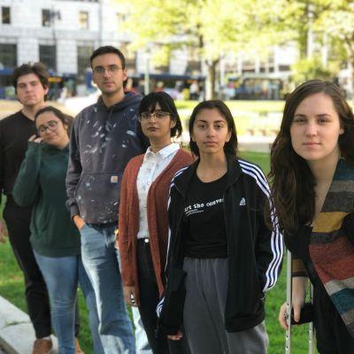 Klimataktivister i Albany, New York.