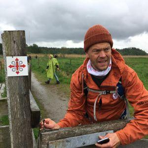 Pilgrimsvandrare på S:t Olofs sjöled