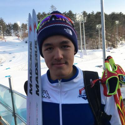 Den i Norge födde Magnus Kim skidar för Sydkorea vid OS i Pyeongchang.