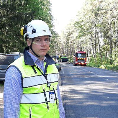 Tuomas Vasama är underhållschef vid NTM-centralen.