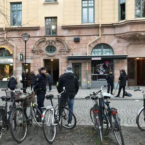 Huset vid Mariatorget i Stockholm där det inträffade en explosion den 19 november 2018.