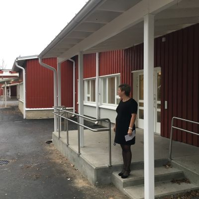 Rektor Ann-Christine Loo-Örn vid Haga skola i Vasa.