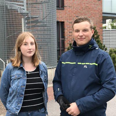 Lea Ekblad och Artur Tollet i Notviken