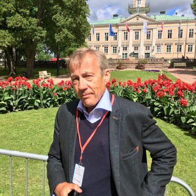 Sixten Korkman på SuomiAreena i Björneborg den 14 juli 2017.