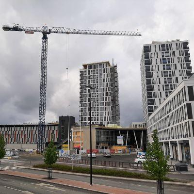 Kuopion asemanseudun uusia rakennuksia
