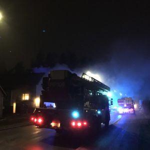 Brand vid jägaresplanaden i Vasa.