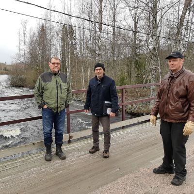 Kai Saviaro, Jukka Mustajärvi och Allan Hjulfors.