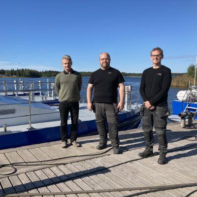 Kuvassa Kent Björklund, Jani Lehtimäki ja Staffan Wargh Kewatecilta