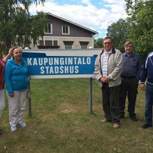Den nyvalda stugdelegationen i Kaskö.