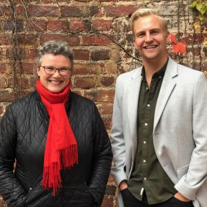 Diakonissan Cecilia Forsén och Janne Grönroos i Efter Nio radio