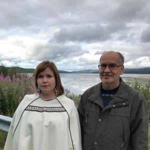 Lumikivi järjesti elämänsä ensimmäisen ryhmämatkan viime elokuussa. Matkakohteena olivat kolttien menetyt kotialueet Petsamonvuonossa. Mukaan lähti myös Annan isä Erkki Lumisalmi.
