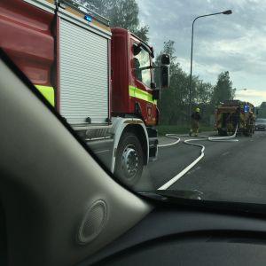 Gräsbrand på ön Hirvensalo i Åbo.