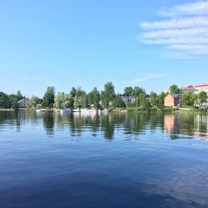 Savonniemen rantaa Savonlinnassa.