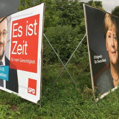 Martin Schulz och Angela Merkel