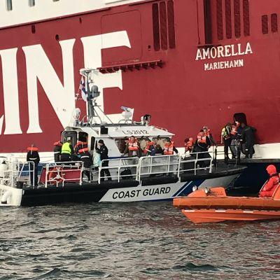 Evakuering från M/S Amorella 20.9.2020
