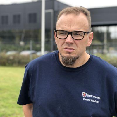 SOE Busproduction Finlandin pääluottamusmies Tommi Vanhala