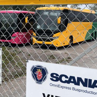 SOE Busproduction Finlandin tehdas Lahden Jokimaalla.
