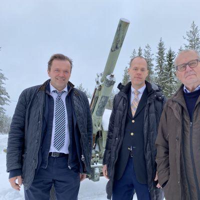 Jyrki Anttila, Uljas Pulkkis ja Panu Rajala.
