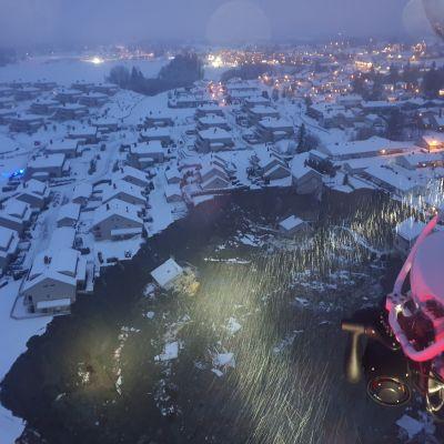 Jordskred i Norge. Ask, Gjerdrum 30.12.2020