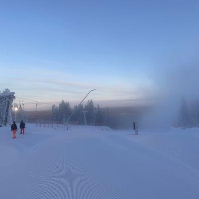 Sappeen hiihtokeskus tammikuussa 2021