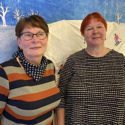 Raili Toivonen ja Anna-Liisa Lehtinen yhteiskuvassa.