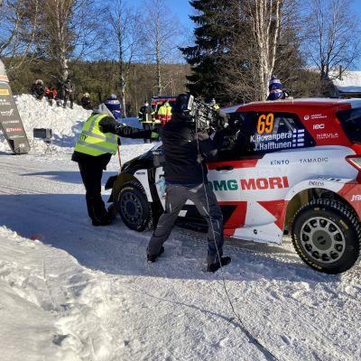 Kalle Rovanperä lähdössä toiselle erikoiskokeelle.