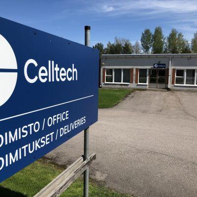 Teknologiayritys Celltechin tuotantolaitos Tampereella