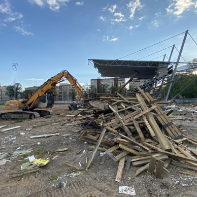 Tammelan stadion on jo melkein purettu