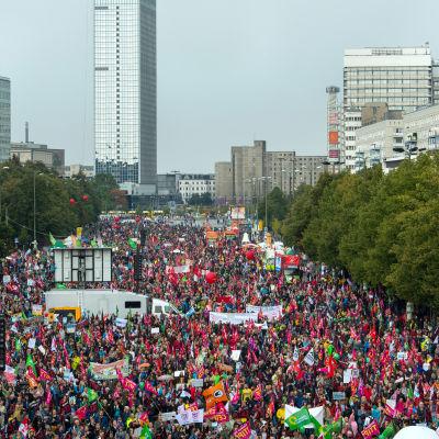 Demonstration i Berlin mot frihandelsavtal.