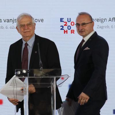 Josep Borrell ja Goran Grlić-Radman puhujapöntössä.