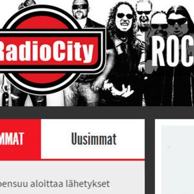 Kuvakaappaus Radio Cityn nettisivuilta.