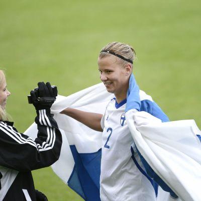 Maija Saari hösten 2012 efter landskamp mot Estland.