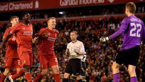 Liverpool firar avancemanget.