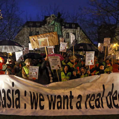 protest mot eutanasi för barn, belgien
